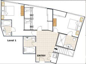Huski - 4 Bedroom Apartment - Floorplan level 1