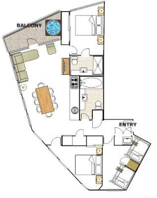 Huski - 3 Bedroom Apartment - Floorplan