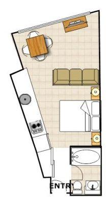 Huski - Studio Apartment floor plan